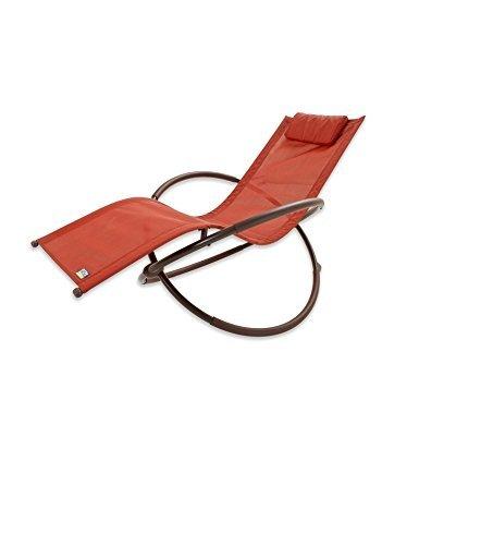 Woven Chaise Lounger - RST Brands OP-OL04-Org Original Orbital Zero Gravity Patio Lounger