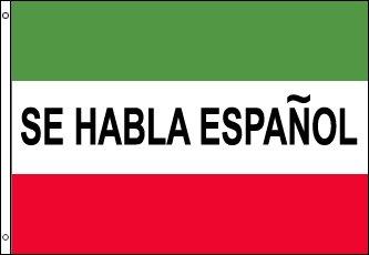 3x5 Foot Message Flag Se Habla Español