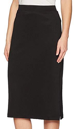 Kasper Women's Midi Slim Skirt with Side Slits, Black, M
