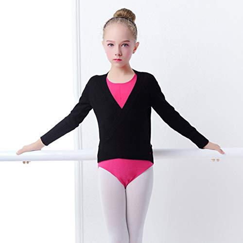 c673b59d4 PINKDAA Kids Girl Dance Sweater Ballerina Long Sleeve Knit Wrap Top Ballet  Cardigan Dresses Sports & Fitness