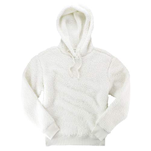 boxercraft Adult Sherpa Pullover Hoodie-Natural-Small