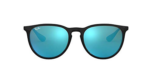 Ray-Ban ERIKA - BLACK Frame LIGHT GREEN MIRROR BLUE Lenses 54mm Non-Polarized