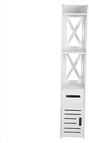 Zoternen Gabinete de Almacenamiento de Baño Muebles Baño Auxiliar Blanco Impermeable 120 * 22 * 22.5 cm: Amazon.es: Hogar