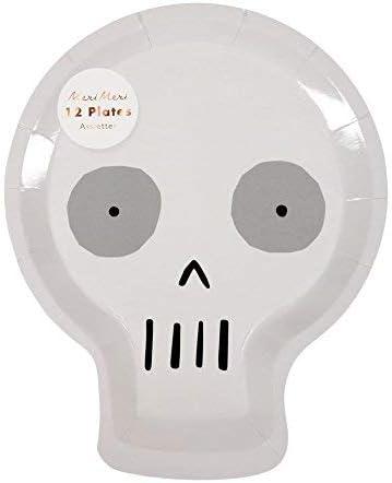 Halloween Skull Paper Plates