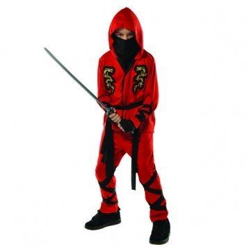 (Fire Dragon Ninja Costume -)