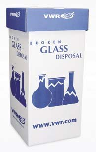 vwr glass disposal box