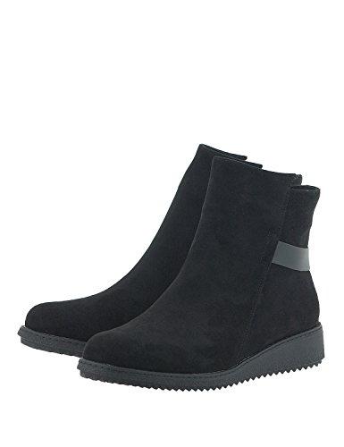 LOUVEL Women's Casual Boots Black vw446ha6lF