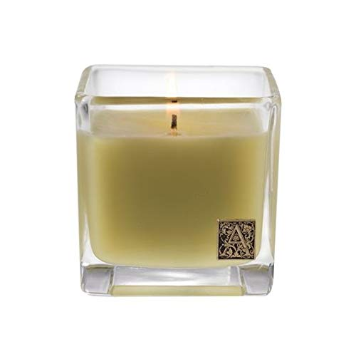 Aromatique Glass Cube Candle, Grapefruit Fandango, 12 Ounces Candle 12 Oz 340g