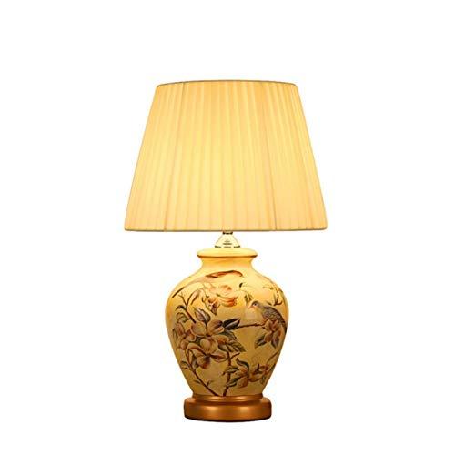 SACYSAC Cerámica lámpara de mesita de Noche Dormitorio ...