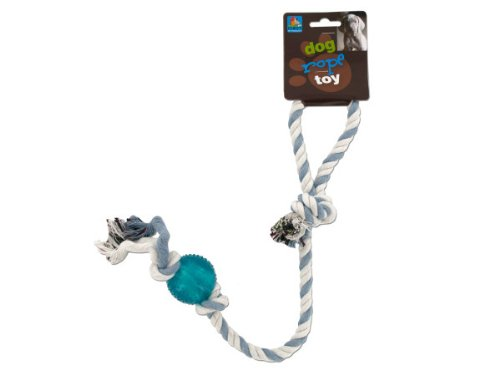 Dog rope toy with plastic ball-Package Quantity,144