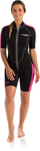 Pink Shorty Wetsuit - Cressi Lido 2mm Lady, Black/Pink, 3/M