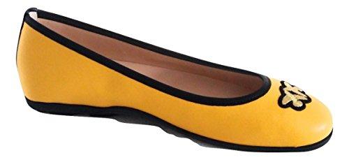 Amarillo Bailarinas Amarillo Pinko Mujer para de Piel 4xUwqYP