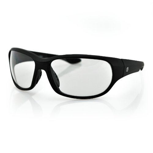 Zanheadgear New Jersey Sunglass with Matte Black Frame and Clear Lenses - Motorcycle Baseball Jersey