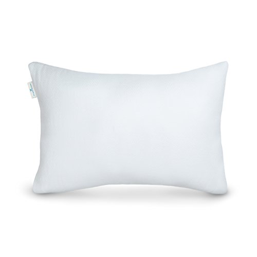 PharMeDoc Shredded Memory Foam Pillow - Bed Pillow for Side Sleepers & Back Sleepers, includes Hypoallergenic Pillow Case, Queen Size