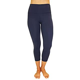 90 Degree By Reflex – High Waist Tummy Control Shapewear – Power Flex Capri Legging – Quality Guaranteed Midnight Navy XS