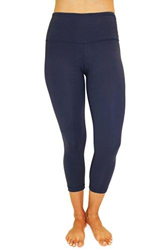 90 Degree By Reflex – High Waist Tummy Control Shapewear – Power Flex Capri Legging – Quality Guaranteed - Midnight Navy (Lady In The Navy Gloves)