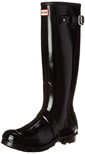 Hunter Women's Original Tall Gloss Black Knee-High Rubber