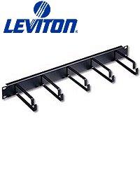 1ru Horizontal Cable (Leviton 49253-LPM Horizontal Patch Cord Organizer Flat 1RU 4