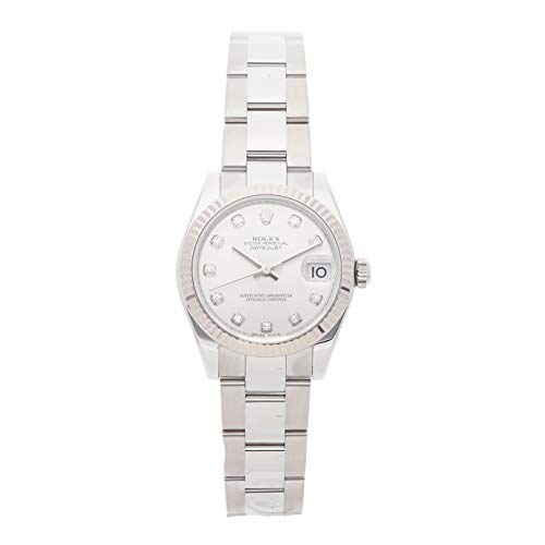 Scattered Diamond Watch - Rolex Datejust Mechanical (Automatic) Silver Dial Womens Watch 178274 (Certified Pre-Owned)