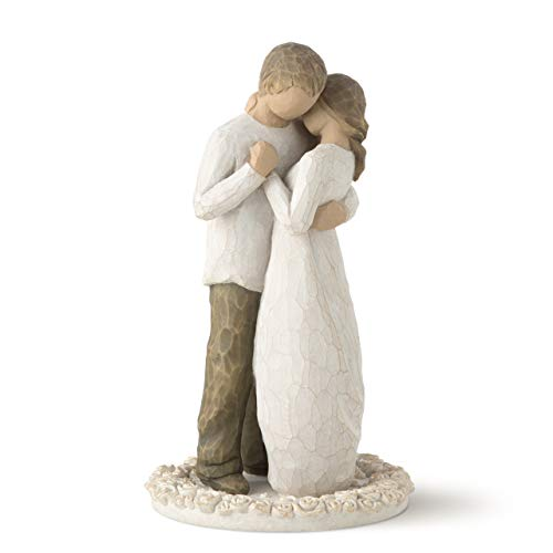 - Willow Tree Promise, sculpted hand-painted cake topper