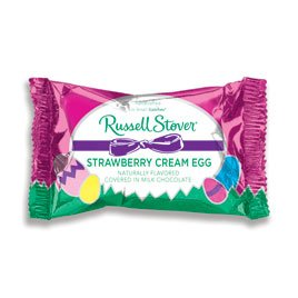 Cream Eggs - Russell Stover Milk Chocolate Strawberry Cream Egg, 1 oz.