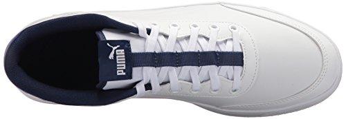 Sneaker Puma Mens Court Breaker Puma Bianco-blu Profondità