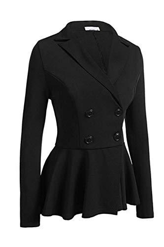 Bureau De Femmes S Boutons Avec Noir Oudan Uk Au Xs Taille Blazer coloré Travail Pour Blanc cn Hauts z45UC5q