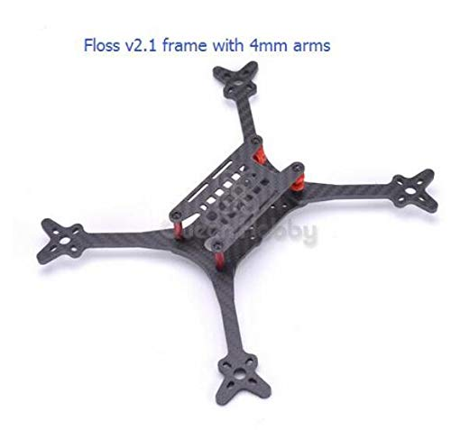 Frame with 4mm arms Laliva Floss V2.1 5 inch 215mm FPV Racing Frame with 4mm 5mm Arms for Runcam Micro Swift 600tvl Camera  (color  4mm arms 2pcs)