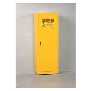 Eagle Space-Saver Flammable Liquids Safety Cabinet - 23X18x65'' - 24 Gallon Capacity - Self-Closing Doors - Grey by Eagle (Image #1)