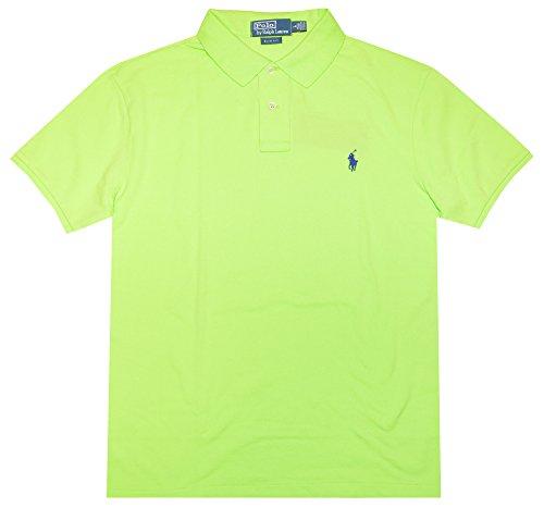 Polo Ralph Lauren Men Slim Fit Pony Logo Mesh Polo Shirt (XL, Marathon green)