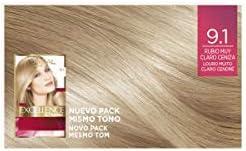 LOreal Paris Excellence Creme Tinte Permanente Tono 9.1 Rubio Muy ...