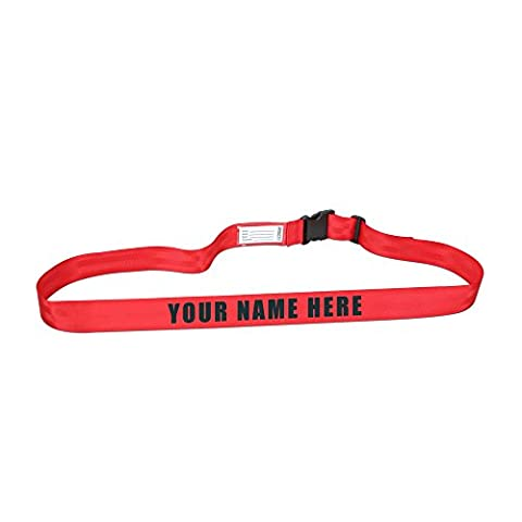 Personalized Luggage Strap (Red) (Traveler Guitar Custom)