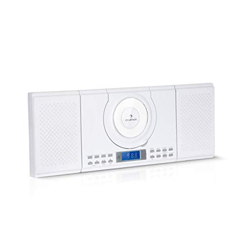 auna Wallie Microsystem • Stereo System • 2 x 10 Watts RMS Stereo Speakers • Front-Loading CD Player • FM Tuner • Bluetooth • USB Port • LCD Display • Incl. Remote Control • White by auna (Image #9)