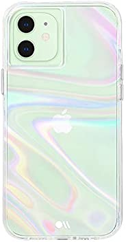 Case-Mate - SOAP Bubble - Case for iPhone 12 Mini (5G) - 10 ft Drop Protection - 5.4 Inch- Iridescent Swirl