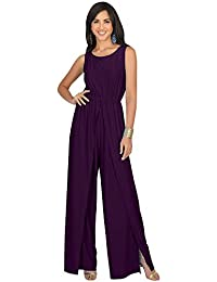 Womens Sleeveless Cocktail Wide Leg One Piece Jumpsuit...