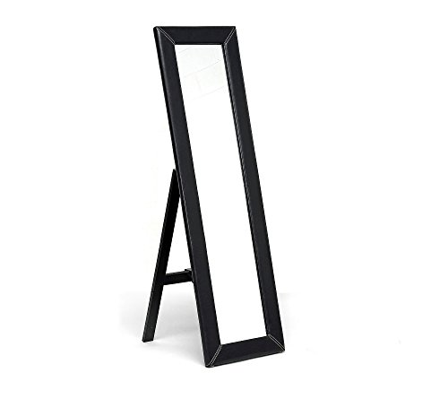 31yyOQf93qL - Baxton Studios McLean Dark Brown Modern Mirror with Built-In Stand