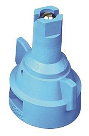 TeeJet AIC11010-VS Air Induction Flat Spray Nozzle w/Quick Cap (Pack of 6) - 110° - Visiflo - Light Blue - 1.0 GPM
