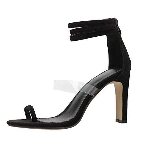 - YKARITIANNA Women's Fashion Pointed Toe Square Heel Sandals Shoes High Heel Shoes Black