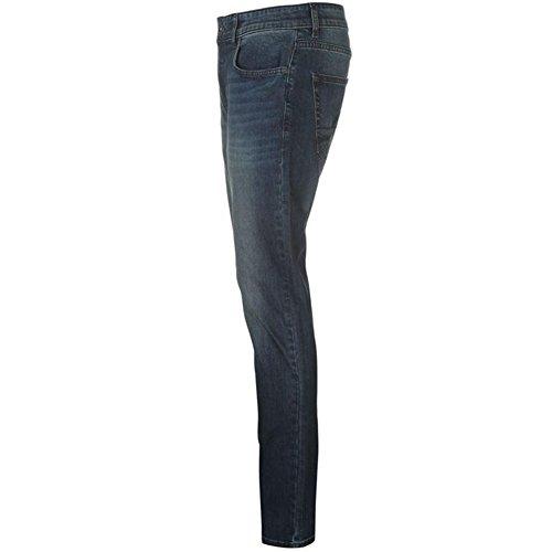 Relajado Bolsillos Pierre Calidad con Wash Dark Vaqueros 5 Regular Superior de Ajuste Clásico Cardin Hombre Jeans para wP6qwg