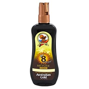 Australian Gold Spf#08 Spray Gel With Instant Bronzer 8oz (2 Pack)
