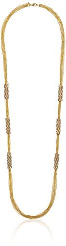 Schwartz Rhinestone - ABS By Allen Schwartz Gold Tone and Pave Rhinestone Wrap Station Strand Necklace, 36
