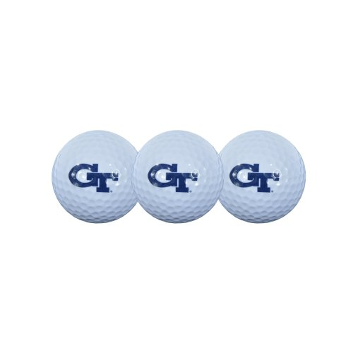 Georgia Tech Golf Balls 3- Pack, Outdoor Stuffs