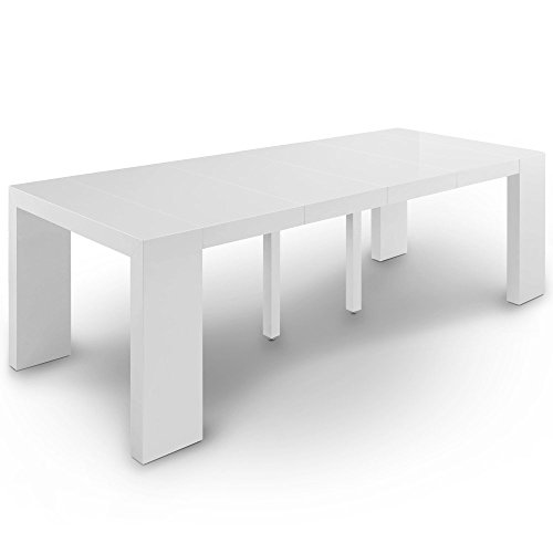 Table Extensible Laque Blanc.Intensedeco Table Console Extensible Oxalys Xl Blanc Laquee