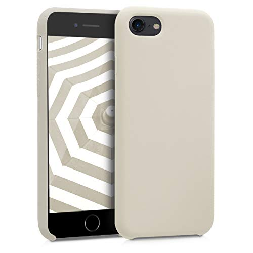 kwmobile TPU Silicone Case for Apple iPhone 7/8 - Soft Flexible Rubber Protective Cover - Cream