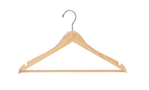 SSWBasics Natural Wood Hangers (All Purpose 17'') - Case of 50 by SSWBasics (Image #3)