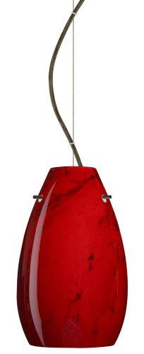 - Besa Lighting 1KX-4126MA-BR 1X100W A19 Pera 9 Pendant with Magma Glass, Bronze Finish