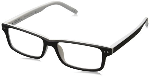 Foster Grant 1017067-250.QTM Square Readers, Black/White,...