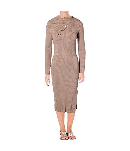 GUESS Women's Long Sleeve Zeze Funnel Neck Sweater Dress (XL, almondine) (Dress Sweater Guess)