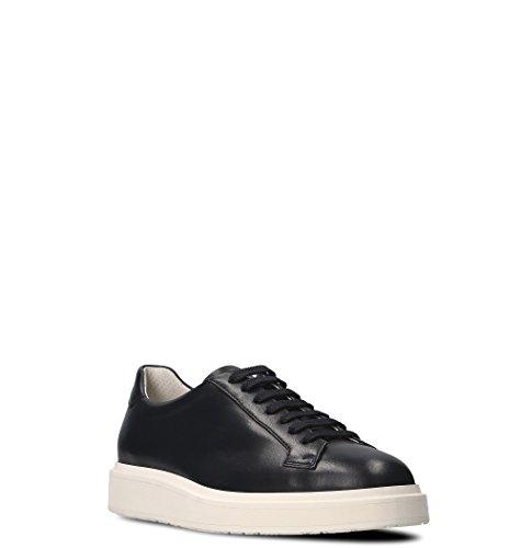 Santoni Mannen Mbdp20672biaxaryu60 Zwart Lederen Sneakers