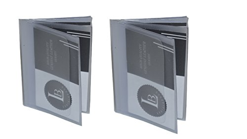 SET of 2 - 6 Page Plastic Wallet Insert for Bifold Billfold or Trifolds Top